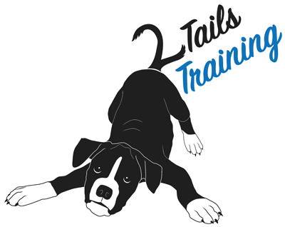 2 Tails Dog Training Logo